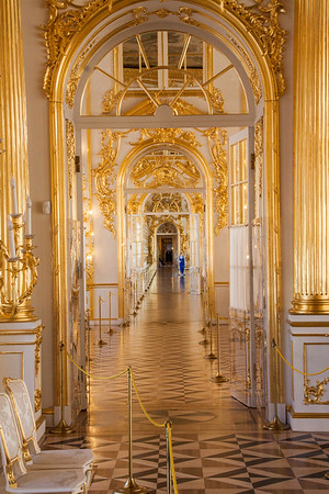 Gold Guilded Hallway in Catherine's Palace