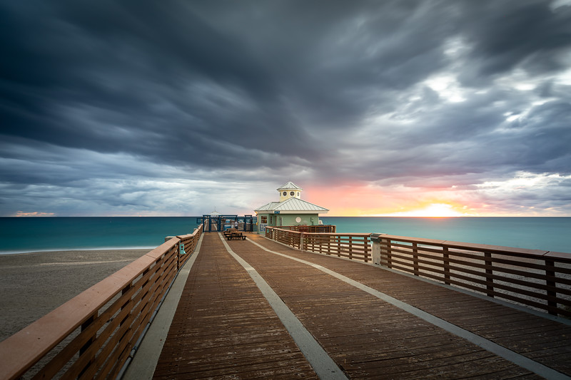Dramatic Clouds at Juno Beach Pier