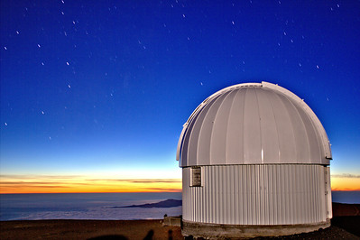 Keck Observatory on Hawaii's Big Island atop Mauna Kea - These, as most of the shots, were taken in total darkness with some illumination coming from that night's full moon and at a temperature of only 43 degrees!