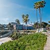 Scripps Park La Jolla Cove overlooking La Valencia Hotel