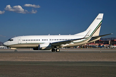N315TS - Tutor-Saliba Corp, Boeing 737-7CUW BBJ (c/n 30772 l/n 554)  Arriving at Las Vegas on a glorious desert evening, photographed from the helicopter ramp used for sightseeing tours. 07 October 2006