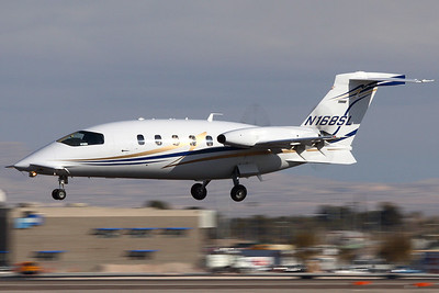 N168SL - Piaggio P-180 Avanti II (c/n 1139)  Landing on 25L at Las Vegas McCarren as AVR168. this Avanti was written-off in November 2011 during a landing accident, happily with no major casualties. 25 January 2008