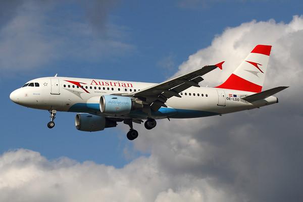 Reg: OE-LDD Operator: Austrian Airlines Type:  Airbus A.319-112 C/n: 2416 Location:  London - Heathrow (LHR / EGLL) - UK        Photo Date: 14 March 2013 Photo ID: 1300721