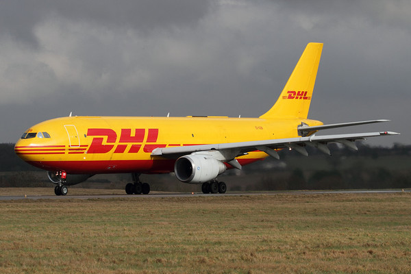 EI-OZB - Air Contractors (DHL), Airbus A.300B4-103F (c/n 184)  Rolling down Luton's runway 26 on a scheduled cargo flight, this A300 has since withdrawn and flown to Kemble, UK for storage. 16 February 2011