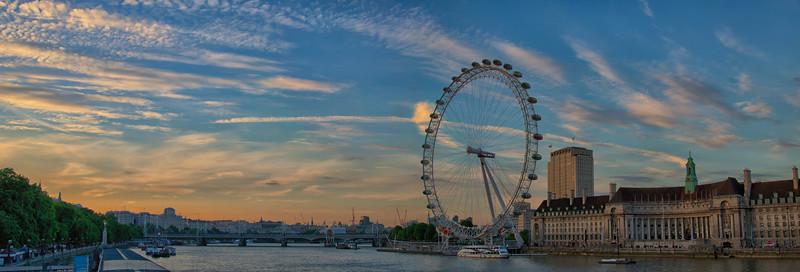 London Eye Thames Blue Hour