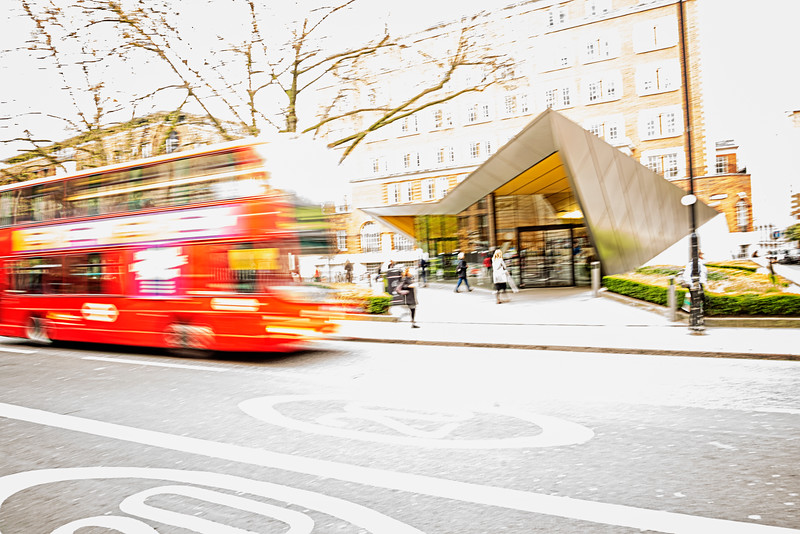 Double Decker Bus Blur