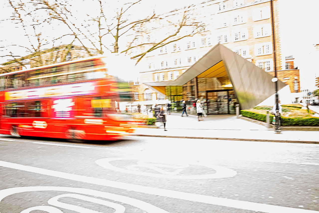 Double Decker Bus Blur