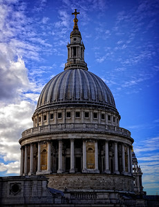 London's St.Peters Dome Blue Sky
