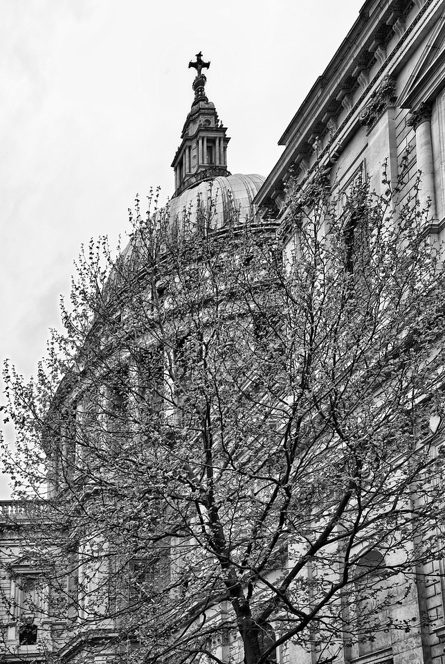 St Paul's London B & W