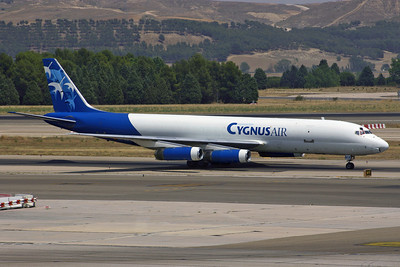 EC-EMX - Cygnus Air, Douglas DC-8-62F (c/n 45921 l/n 322)  Once a common sight at Madrid, flying for Iberia, this Cygnus DC-8 was scrapped in South Africa in 2011. 08 July 2007