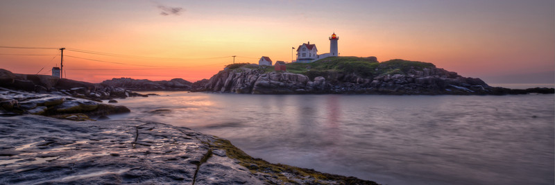 Nubble Lighthouse Before Sunrise - Panorama