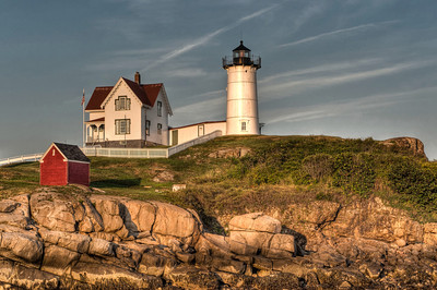 Cape Neddick Lighthouse in Evening Light
