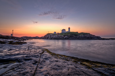 "Cape Neddick Lighthouse ""The Nubble"" in York, Maine."