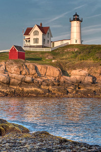 Cape Neddick Lighthouse in Evening Light - Portrait
