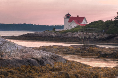 Hendricks Head Light at Sunset
