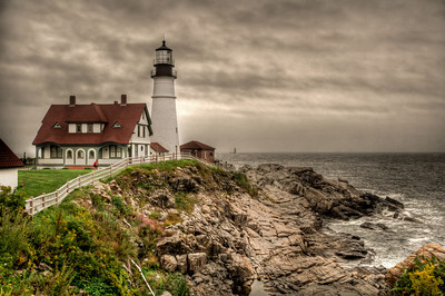 Overcast Day at the Portland Head Light