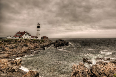 Gloomy Day at the Portland Head Light