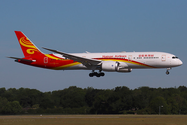 """Reg: B-208T Operator: Hainan Airlines Type: Boeing 787-9  C/n: 62727/ 808  Location: Manchester (MAN / EGCC) - UK   """"CHH701"""" over the numbers on 05L, arriving on a COVID-19 cargo charter      Photo Date: 30 May 2020 Photo ID: 20...."""