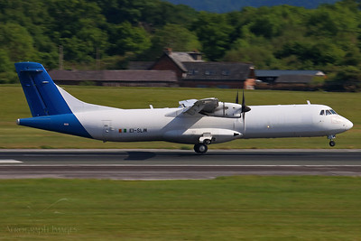 Reg: EI-SLW Operator: ASL Airlines Ireland Type: Avions de Transport Regional ATR-72-202F		   C/n: 232  Location: Manchester (MAN / EGCC) - UK  The daily Fed Ex feeder flight touching down on 23R from Stansted     Photo Date: 21 May 2020 Photo ID: 20....