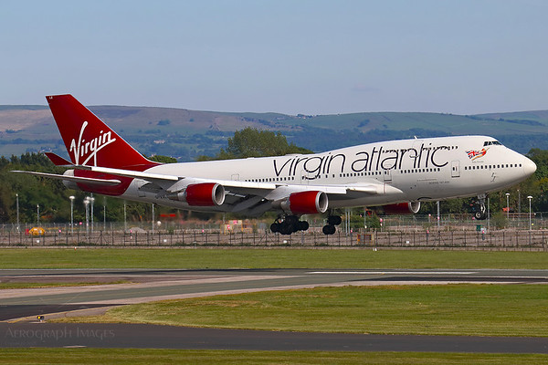 Reg: G-VXLG Operator: Virgin Atlantic Airways Type: Boeing 747-41R  C/n: 29406/1177  Location: Manchester (MAN / EGCC) - UK   Possibly the last time a Virgin Boeing 747 lands at MAN.  VS803P arriving from Glasgow for storage after the type's withdrawal from service     Photo Date: 21 May 2020 Photo ID: 20....