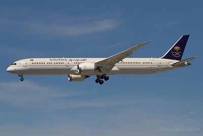 """Reg: HZ-AR27 Operator: Saudia - Saudi Arabian Airlines Type: Boeing 787-10  C/n: 40052 / 976  Location: Manchester (MAN / EGCC) - UK   """"Saudia 123"""" on finals to runway 23R, operating a COVID relief flight from Jeddah     Photo Date: 25 May 2020 Photo ID: 20...."""