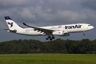 "Reg: EP-IJA Operator: Iran Air Type: Airbus A330-243		    C/n: 1540  Location: Manchester (MAN / EGCC) - UK   ""IRA753"" landing 05L, arriving on the Saturday morning service from Tehran-IKA      Photo Date: 08 August 2020 Photo ID: 20...."