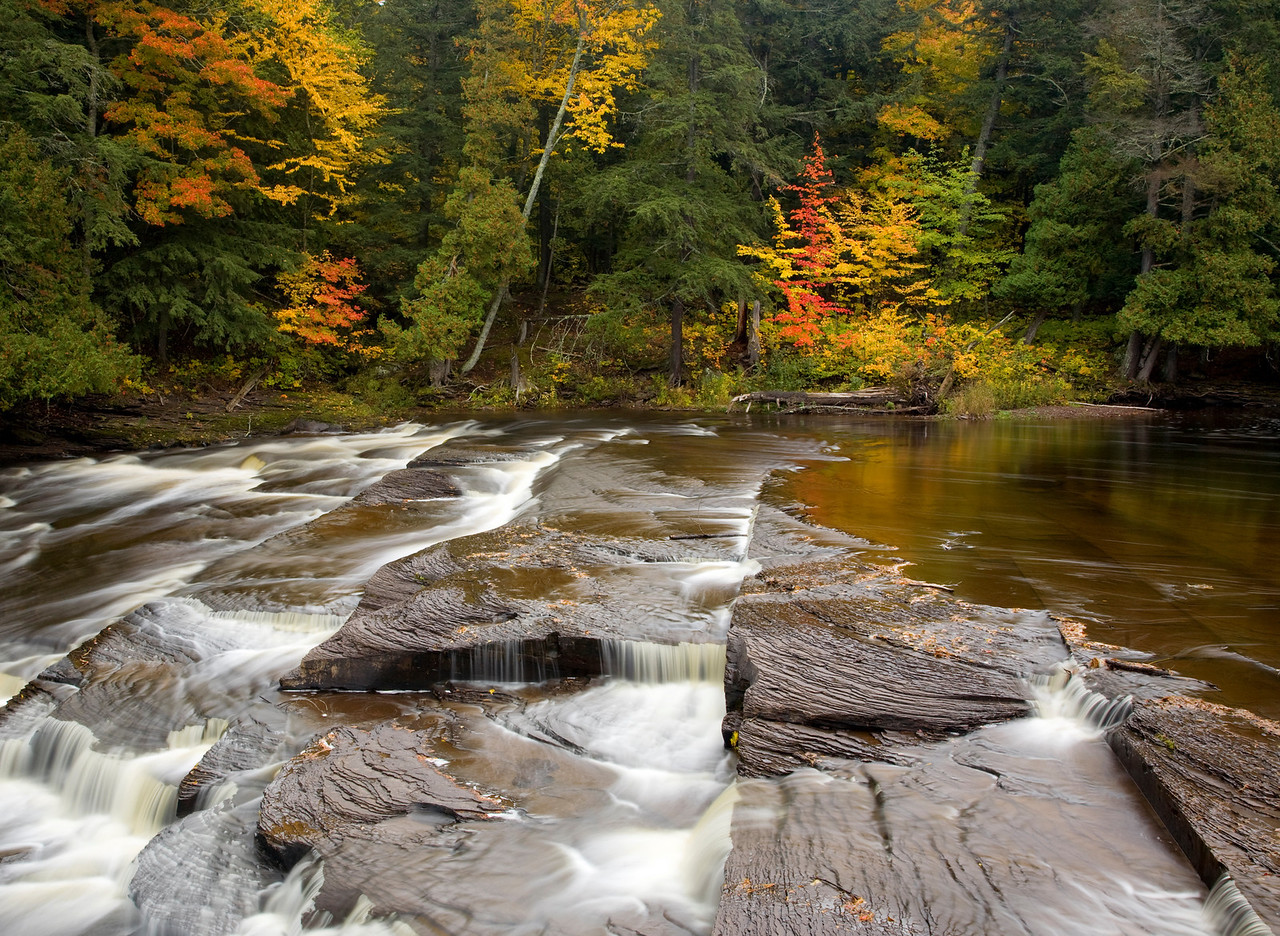 Presque Isle River, Porcupine Mountains, Upper Penninsula, Michigan