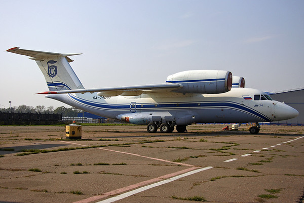 RA-74047 - Shar INK, Antonov An-74 (c/n 36547097941)  Parked on the active ramp at Moscow-Bykovo awaiting its next freight mission. 07 September 2008