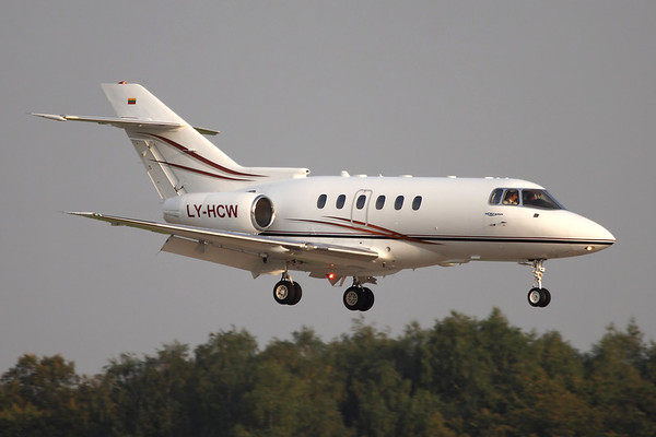 Reg: LY-HCW Type: Raytheon Hawker 800XP C/n: 258398   Landing at Moscow's Vnukovo airport in late afternoon sun.     Photo Date: 06 September 2008 Photo ID: 1200007