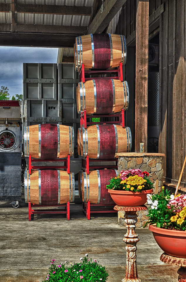 Wine colored barrels