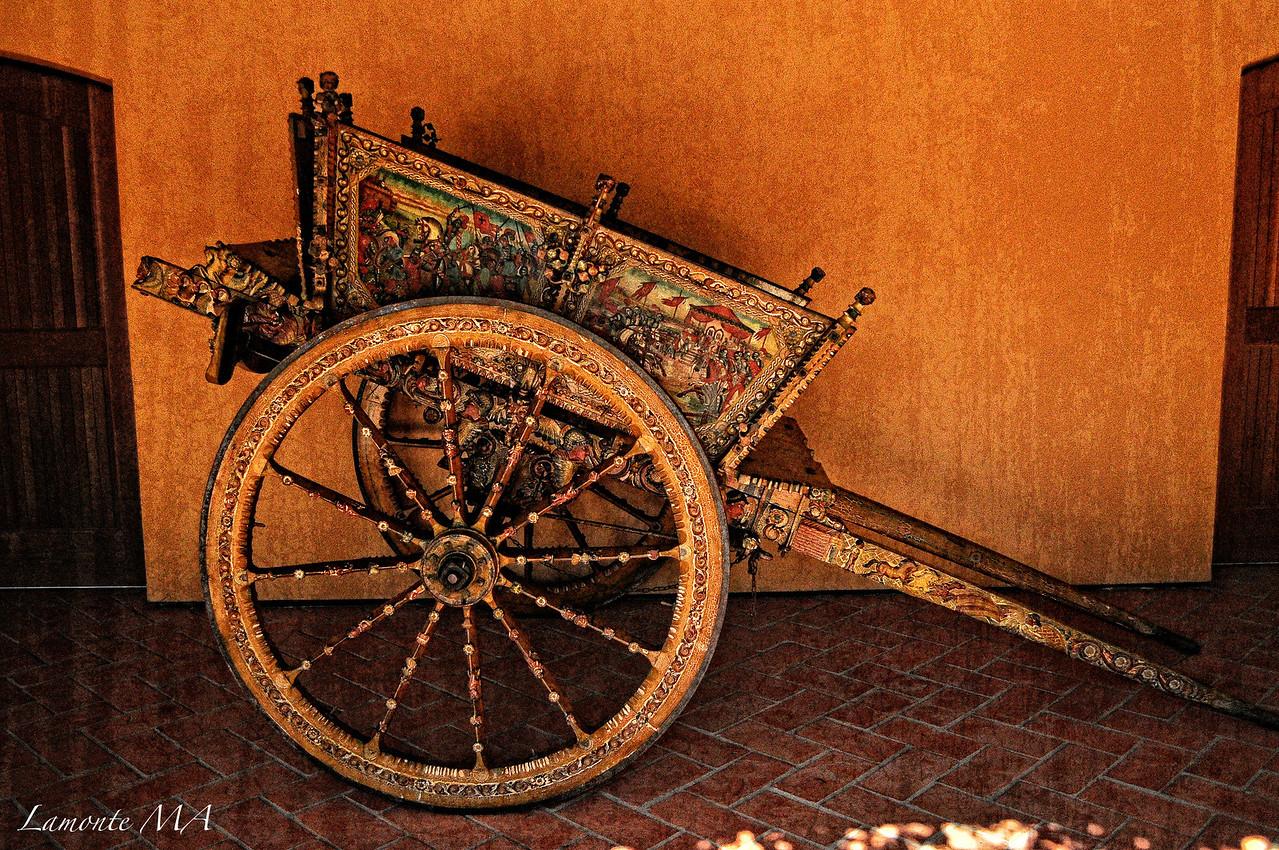 Italian vintage wine cart