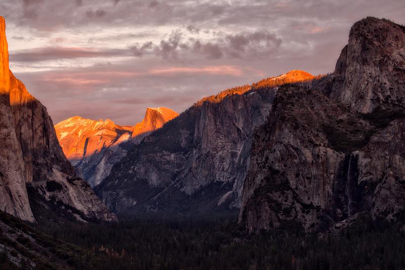 Yosemite Half Dome Sunset