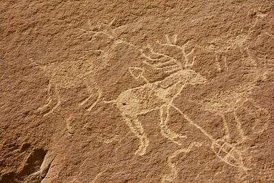Elk Hunt Petroglyph