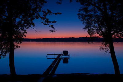 Night Falls on the Lake