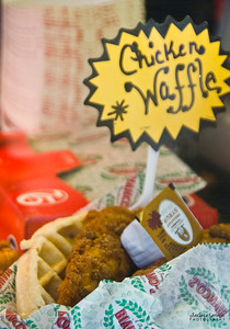 North Carolina Mountain State Fair ~ Fletcher, NC Chicken and Waffle - the newest food trend.