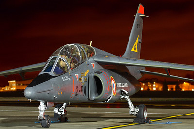 Reg: E140		   Code: 2-FA Operator: France - Armee de l'Air Type:  Dassault-Dornier Alpha Jet E		   C/n: E140   Posing on the ramp at Northolt during one of the regular charity nightshoots held at the RAF station in NW London.     Photo Date: 25 March 2010 Photo ID: 1200407