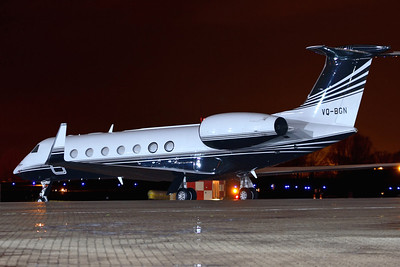 Reg: VQ-BGN Type: Gulfstream Aerospace G.550		   C/n: 5218   Parked up for the night at its home base of Northolt, in North West London.     Photo Date: 25 March 2010 Photo ID: 1200436