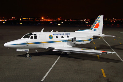 Reg: 86001 / 861 Operator: Sweden - Swedish Air Force Type:  Rockwell Sabreliner 40		   C/n: 282-49 Location:  RAF Northolt (NHT / EGWU) - UK        Photo Date: 14 March 2013 Photo ID: 1300611