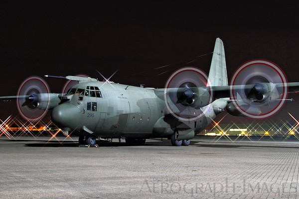 Reg:  XV295Operator:  United Kingdom - Royal Air ForceType:  Lockheed C-130K Hercules C-1P  C/n:  382-4261Location:  RAF Northolt (NHT / EGWU), UK On the ramp at RAF Northolt, all four engines running under the lights. The C130-K is due to be retitred from RAF service at the end of October after 47 years, with this appearance at the Nightshoot being its last public outing. Photo Date:  17 October 2013Photo ID:  1300813