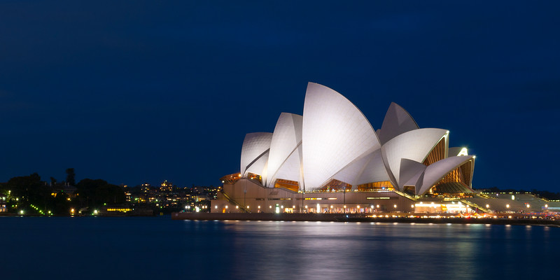 Sydney Opera House at night, Sydney, Australia