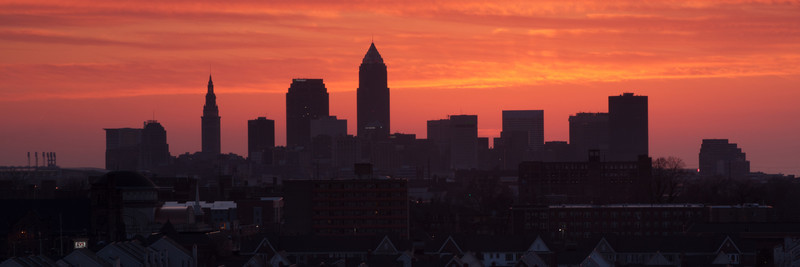 Cleveland Sunset Panorama