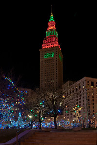 Terminal Tower at Christmas 2