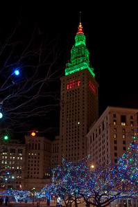 Terminal Tower at Christmas 1