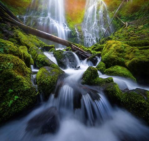 Water falls, lakes and Streams