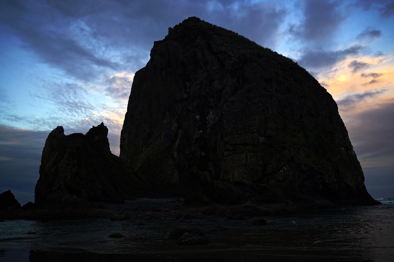 Haystack Rock Cannon Beach Blue hour