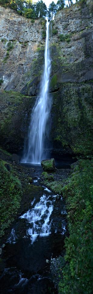Vertical Pano Multnomoh Falls