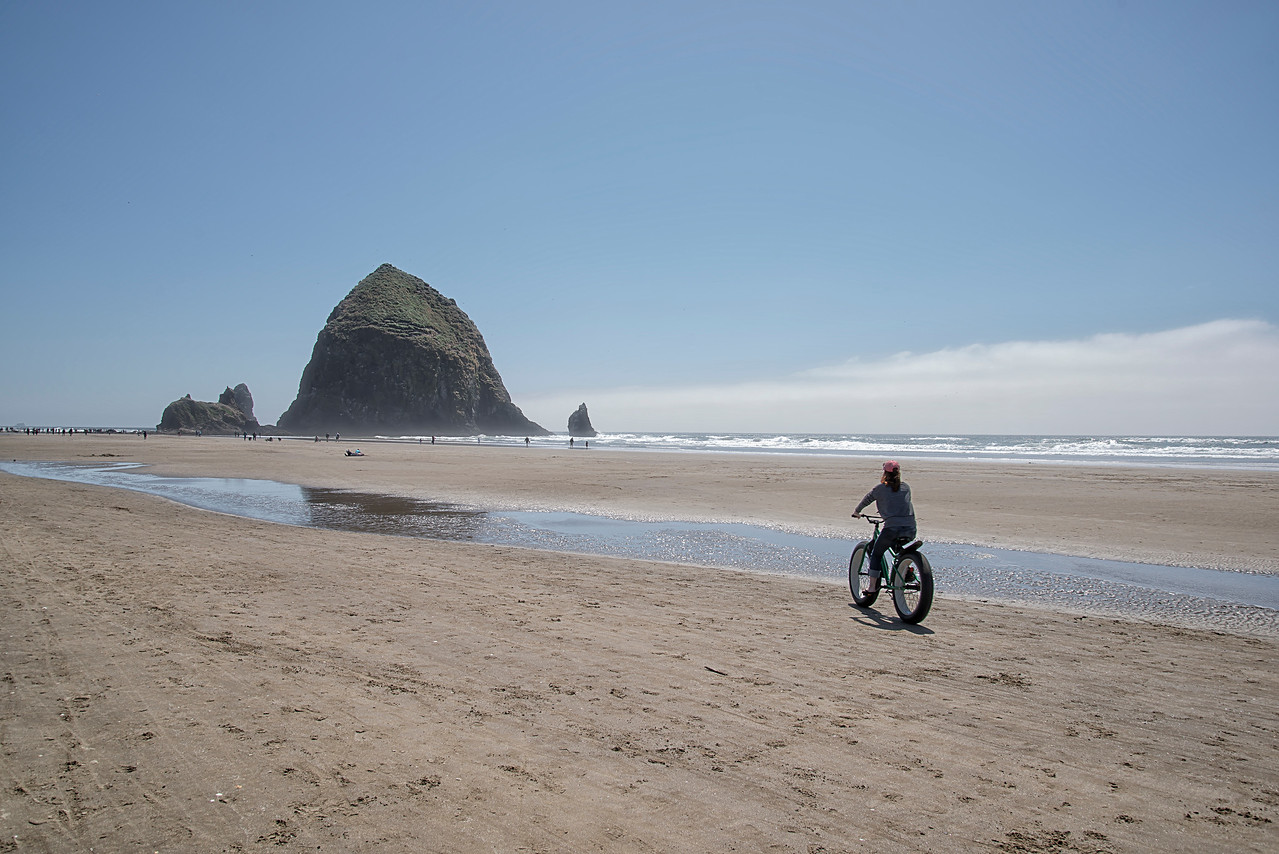 Bikeride on Cannon Beach Oregon