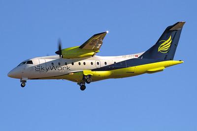 Reg: HB-AEO Operator: Skywork Airlines Type:  Dornier Do.328-110 C/n: 3061 Location:  Palma de Mallorca - Son San Juan (PMI / LEPA), Spain        Photo Date: 10 June 2013 Photo ID: 1300687