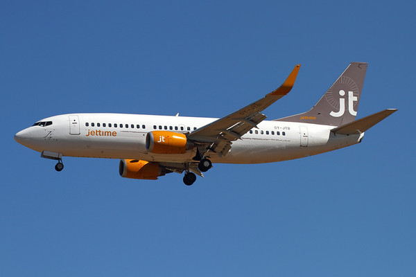 Reg: OY-JTB Operator: Jettime Type:  Boeing 737-3Y0/W		   C/n: 24464 / 1753 Location:  Palma de Mallorca - Son San Juan (PMI / LEPA), Spain        Photo Date: 10 June 2013 Photo ID: 1300730