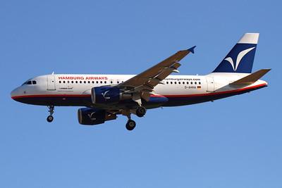 Reg: D-AHHA Operator: Hamburg Airways Type:  Airbus A.319-112 C/n: 3533 Location:  Palma de Mallorca - Son San Juan (PMI / LEPA), Spain        Photo Date: 10 June 2013 Photo ID: 1300713
